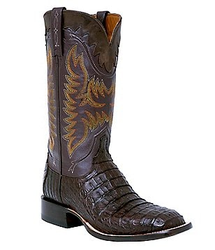 Lucchese Rhys Caiman Upper Western Boots