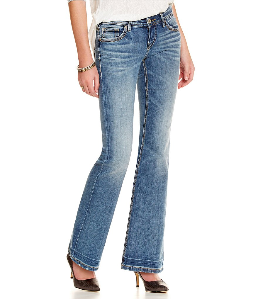 Silver Jeans Co. Aiko Mid-Rise Flare Jeans