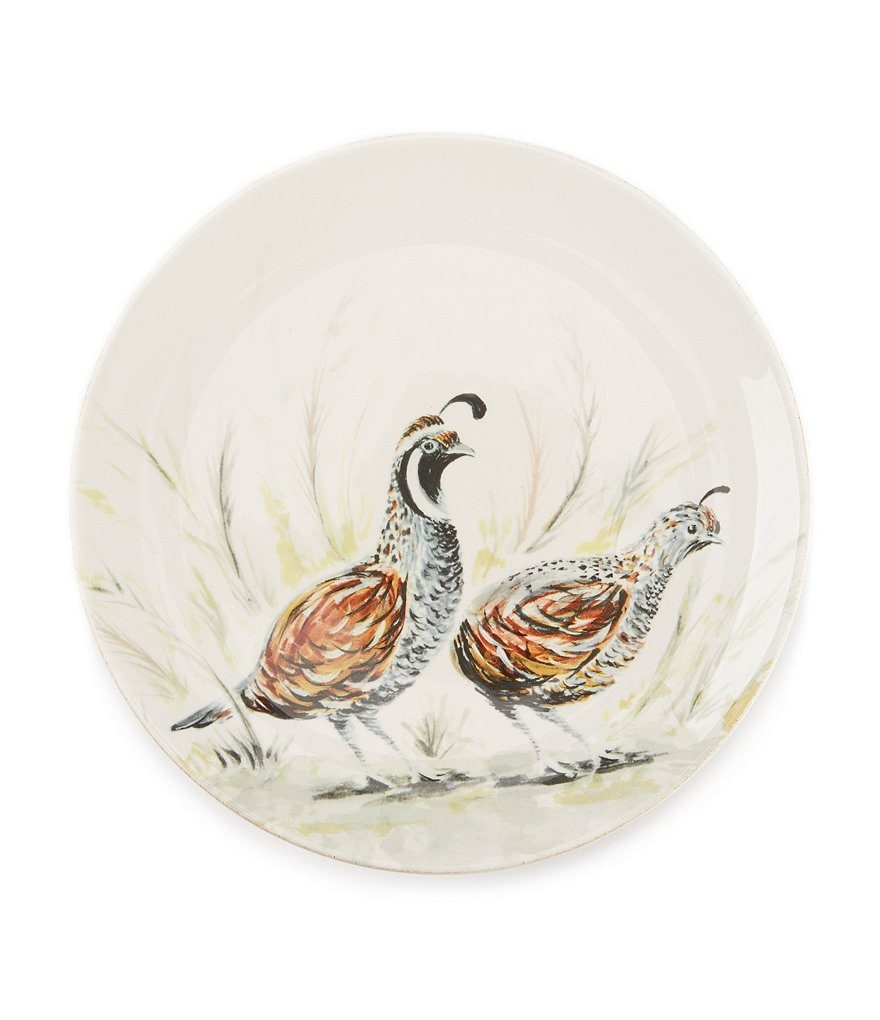 Southern Living Harvest Quail Ironstone Salad Plate