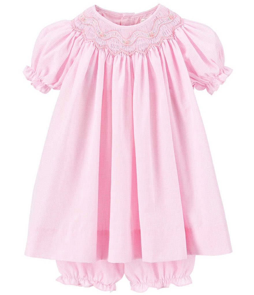 Petit Ami Baby Girls 3-9 Months Smocked Gingham Dress