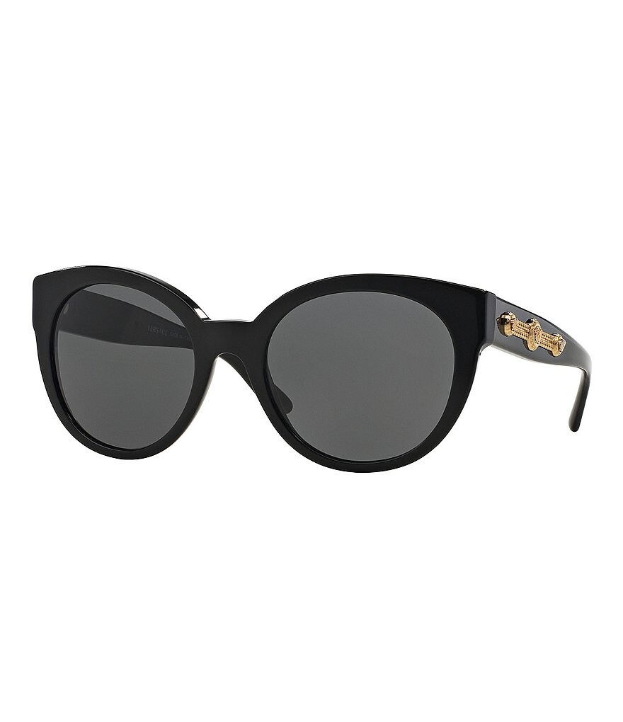 Versace Rock Icons Medusa Chain Oversized Cat-Eye Sunglasses