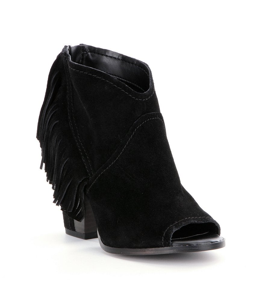GB Night-Out Fringe Peep-Toe Bootie