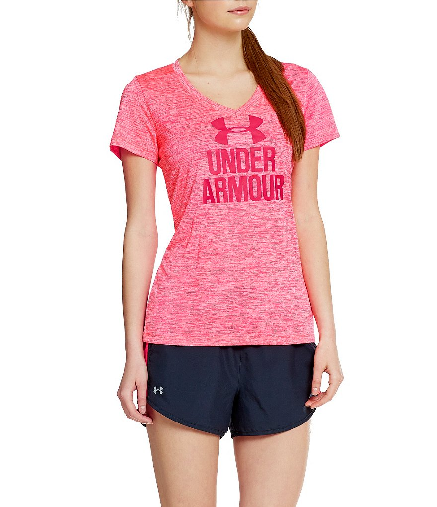 Under Armour UA Graphic Twist Tech V-Neck Top
