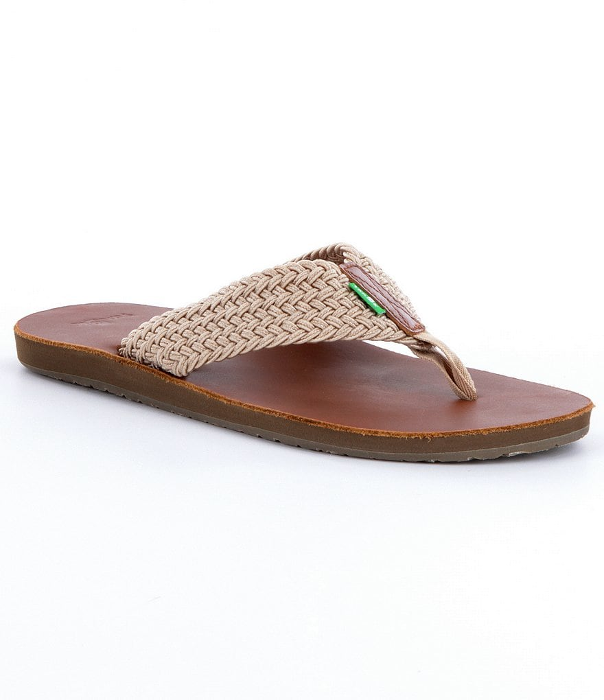 Sanuk Men´s John Doe Braided Casual Flip Flops