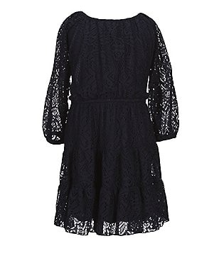 Soulmates 7-16 Peasant Lace Tiered Skater Dress