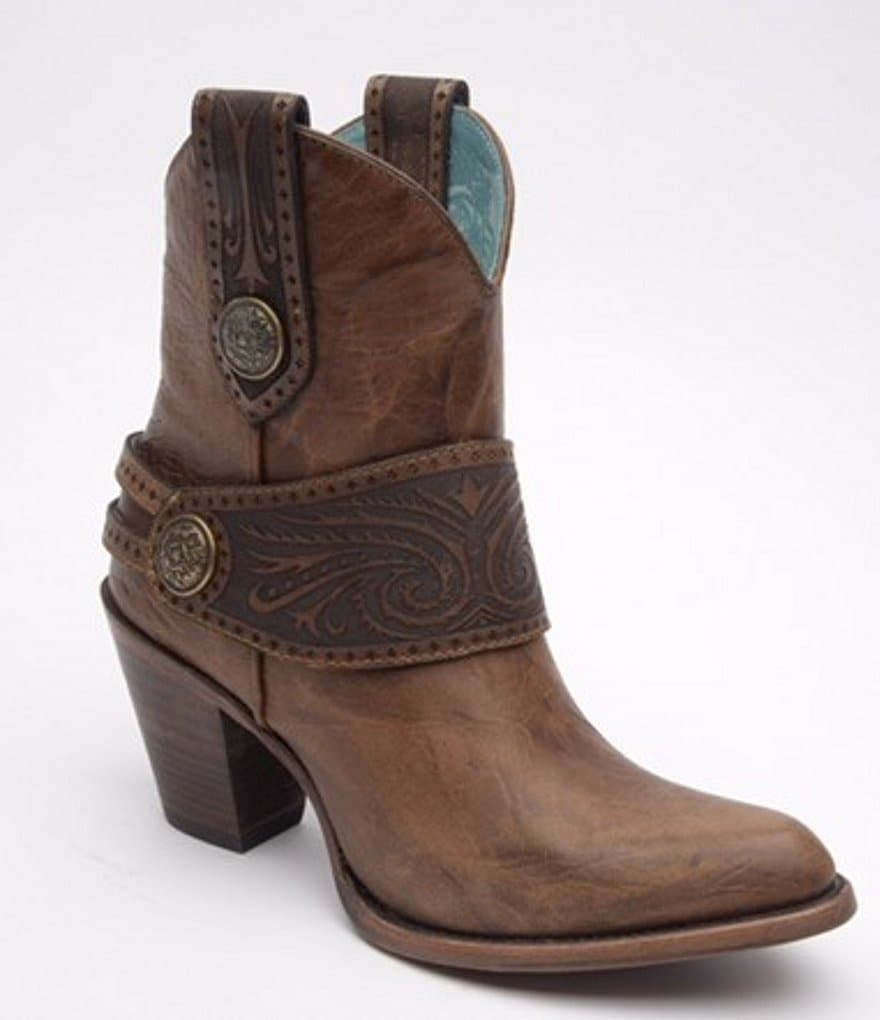 Corral Boots Engraved Harness Ankle Boots