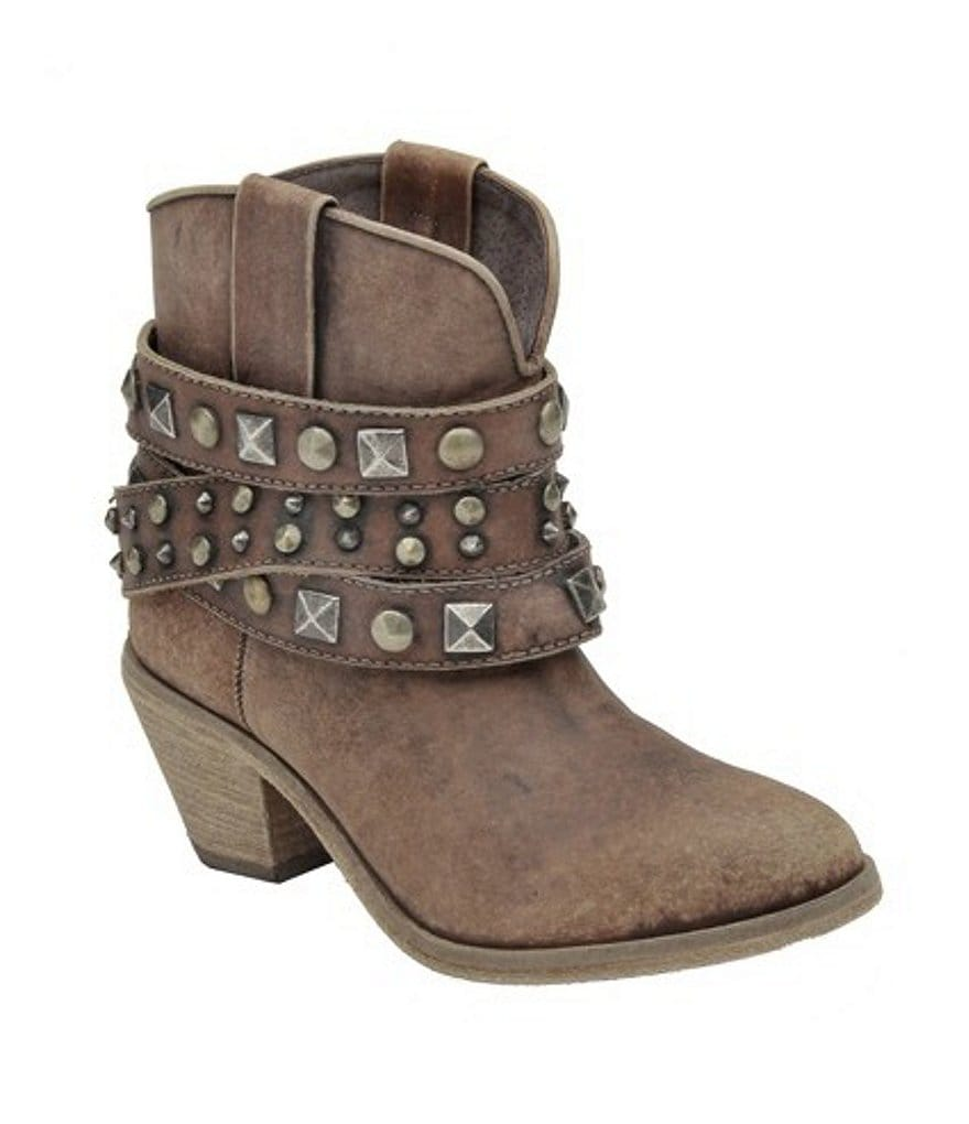 Corral Boots Studded-Strap Ankle Boots