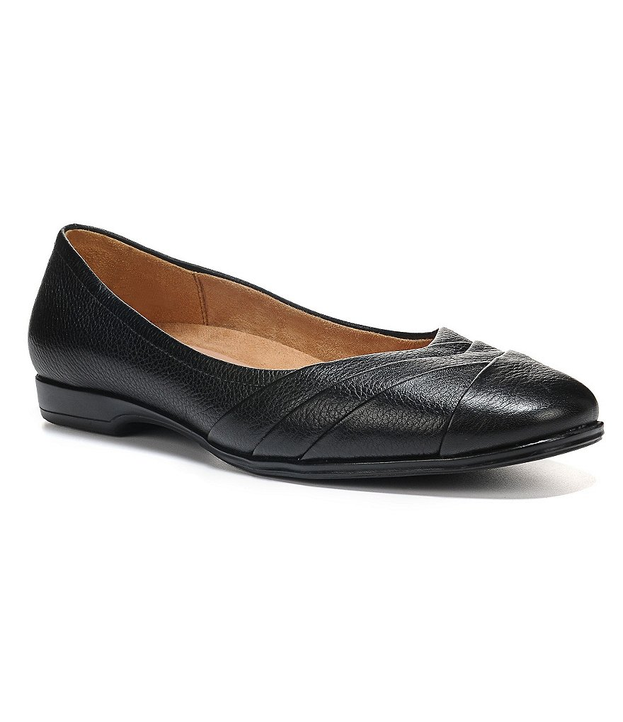 Naturalizer Jaye Pleated Leather Flats