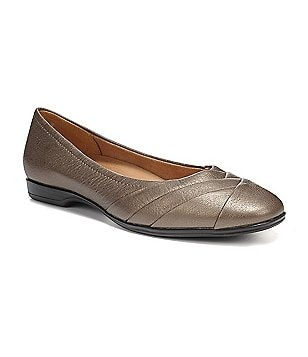 Naturalizer Jaye Metallic Pleated Flats