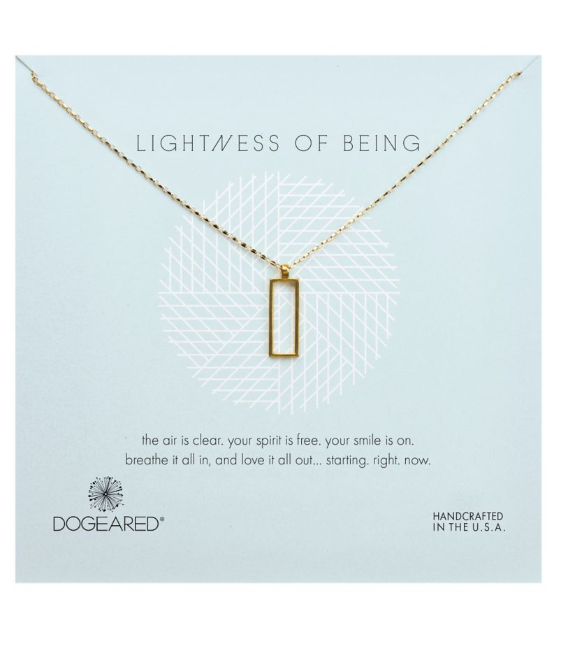 Dogeared Lightness of Being Rectangle Pendant Necklace