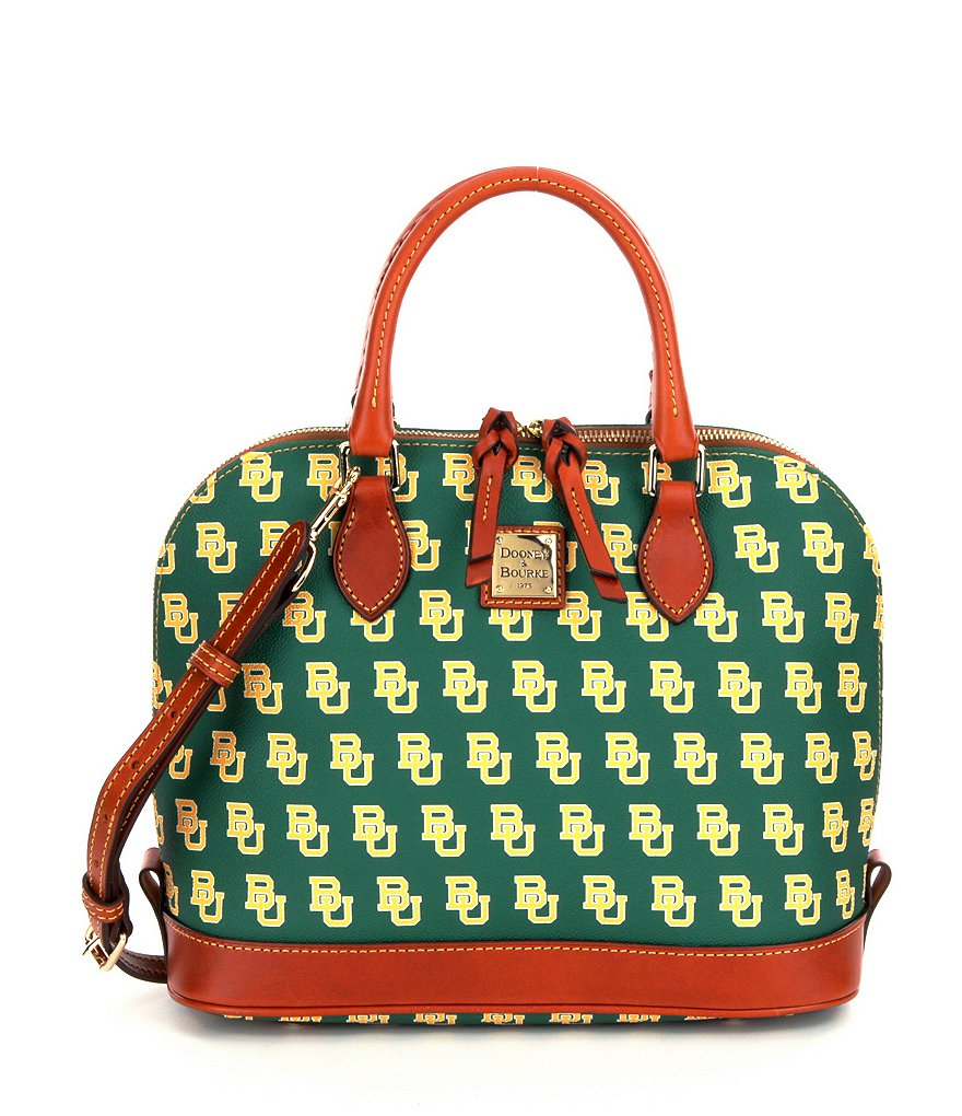 Dooney & Bourke Baylor University Zip Zip Convertible Dome Satchel
