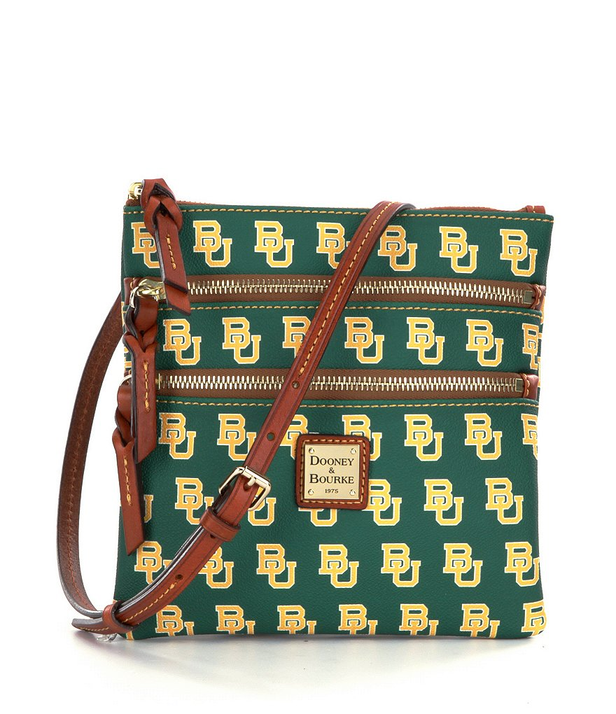 Dooney & Bourke Baylor University Triple Zip Cross-Body Bag