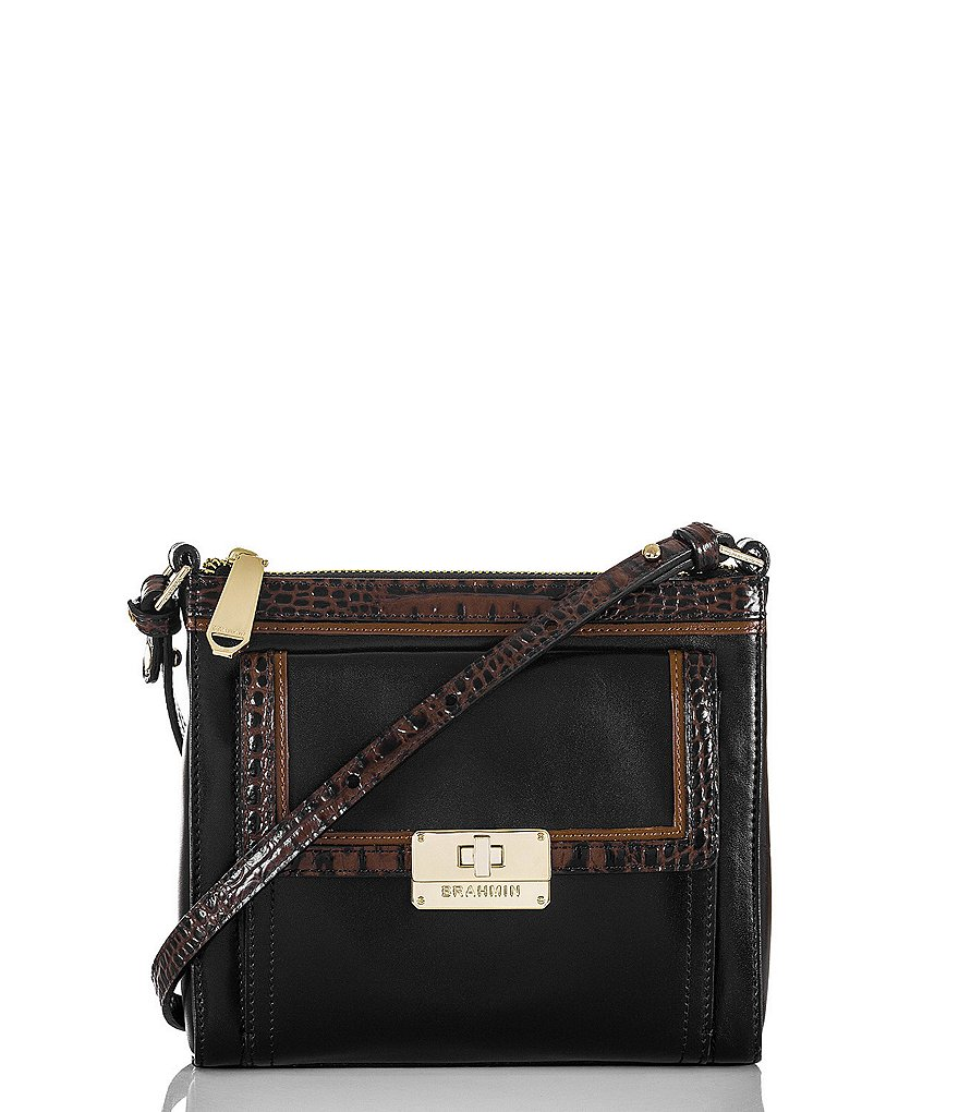 Brahmin Tuscan Tri-Texture Collection Mimosa Cross-Body Bag
