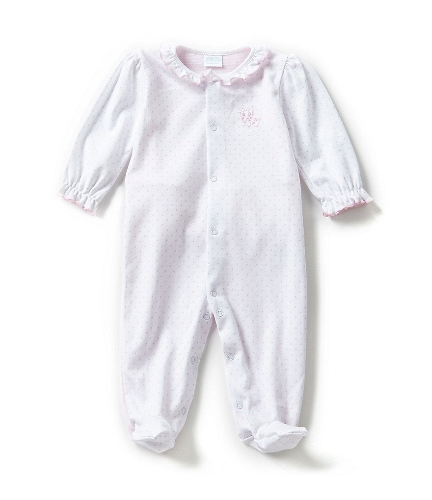 Edgehill Collection Baby Girls Newborn-6 Months Giraffe Footed Coveralls