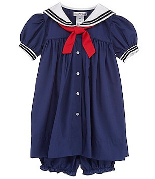 Petit Ami Baby Girls 3-24 Months Nautical Sailor Dress