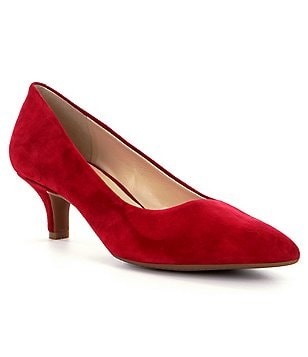 Alex Marie Zhoey Pointed-Toe Kitten Pumps