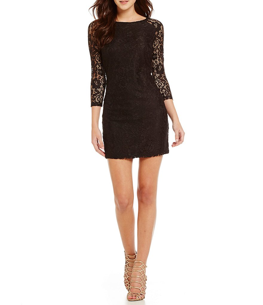 Laundry By Shelli Segal Lace T-Body Dress