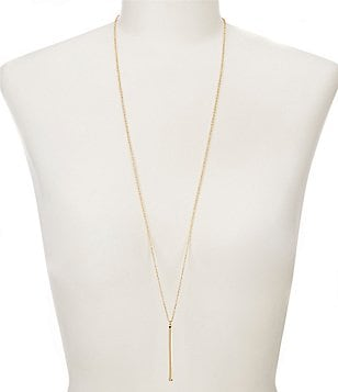 Anna & Ava Long Bar Pendant Necklace