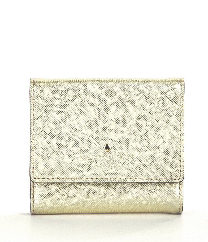 kate spade new york Tavi Metallic Trifold Wallet