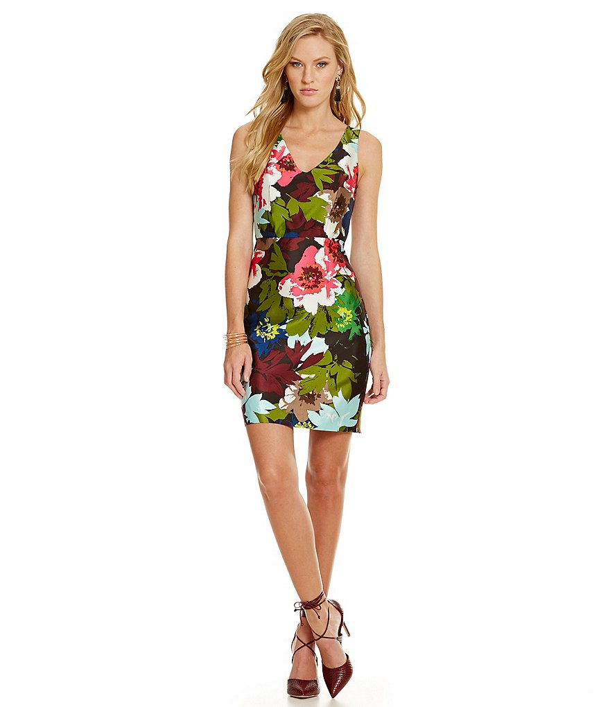 Trina Turk Dresses Cosima Autumn Garden Floral-Print Dress
