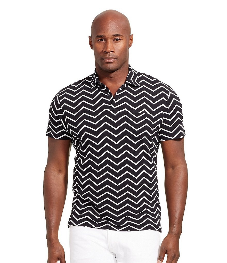 Polo Ralph Lauren Big & Tall Chevron-Print Polo Shirt