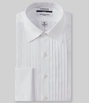 Cremieux Non-Iron Slim-Fit Spread Collar Solid Tuxedo Shirt with French Cuffs