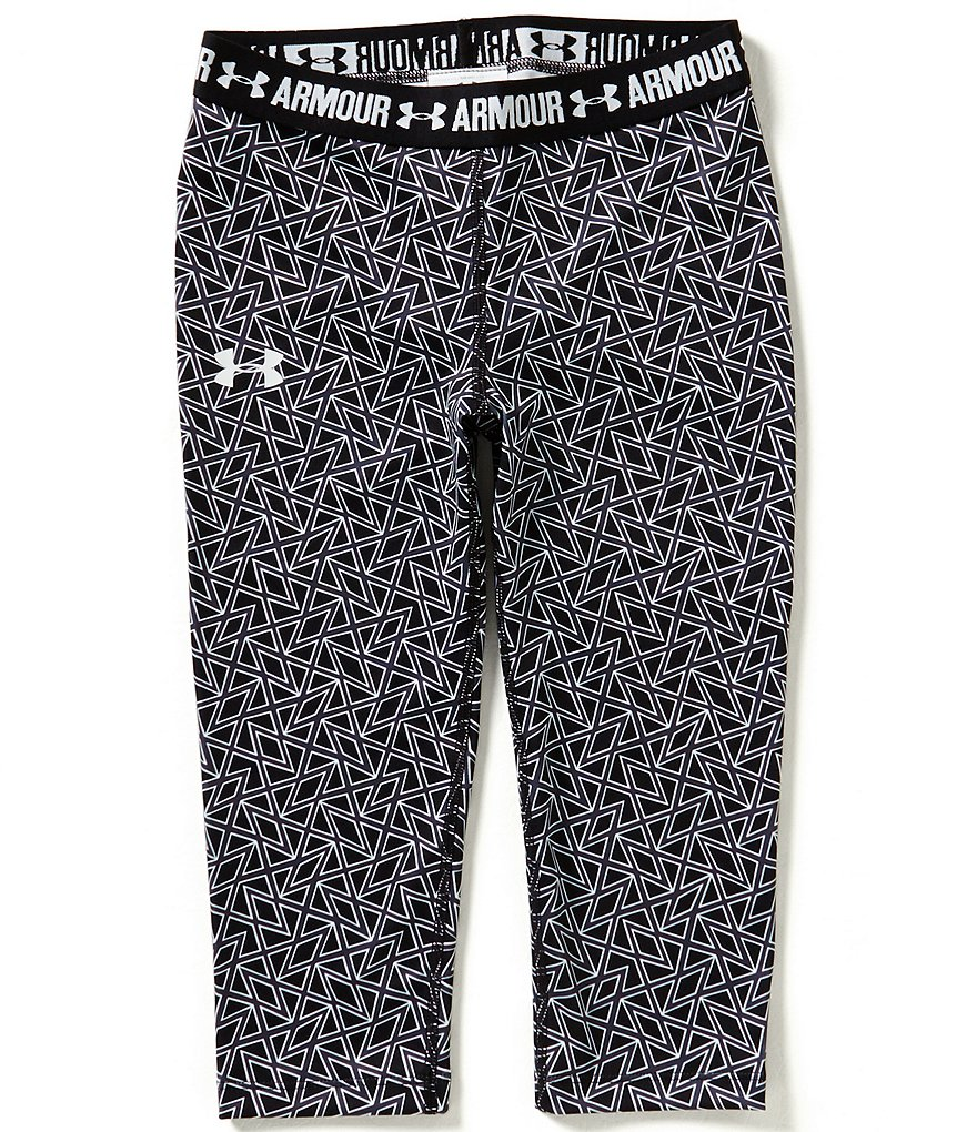 Under Armour Big Girls 7-16 Printed Capri Pants