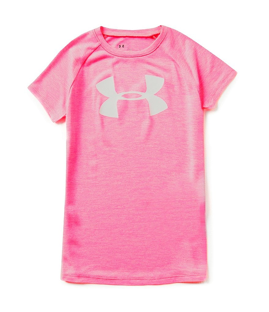 Under Armour Big Girls 7-16 Big Logo Tech Short-Sleeve Tee