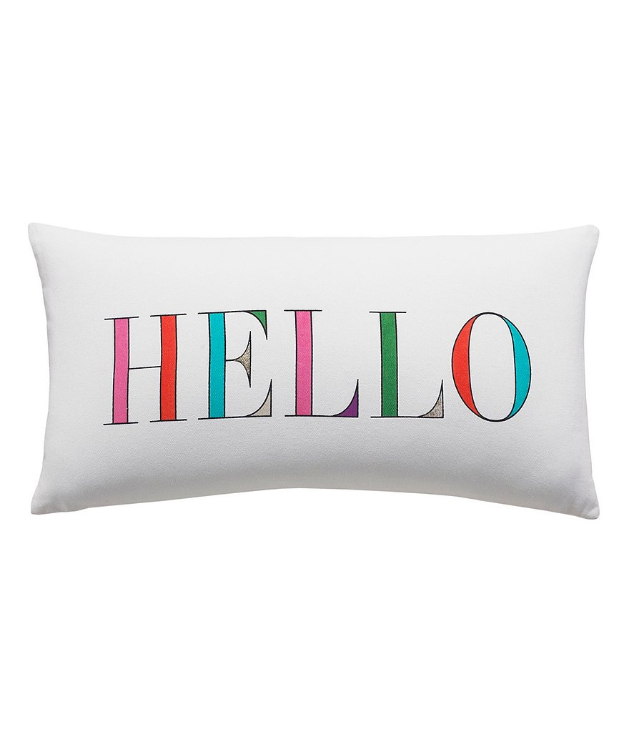kate spade new york Hello Oblong Pillow