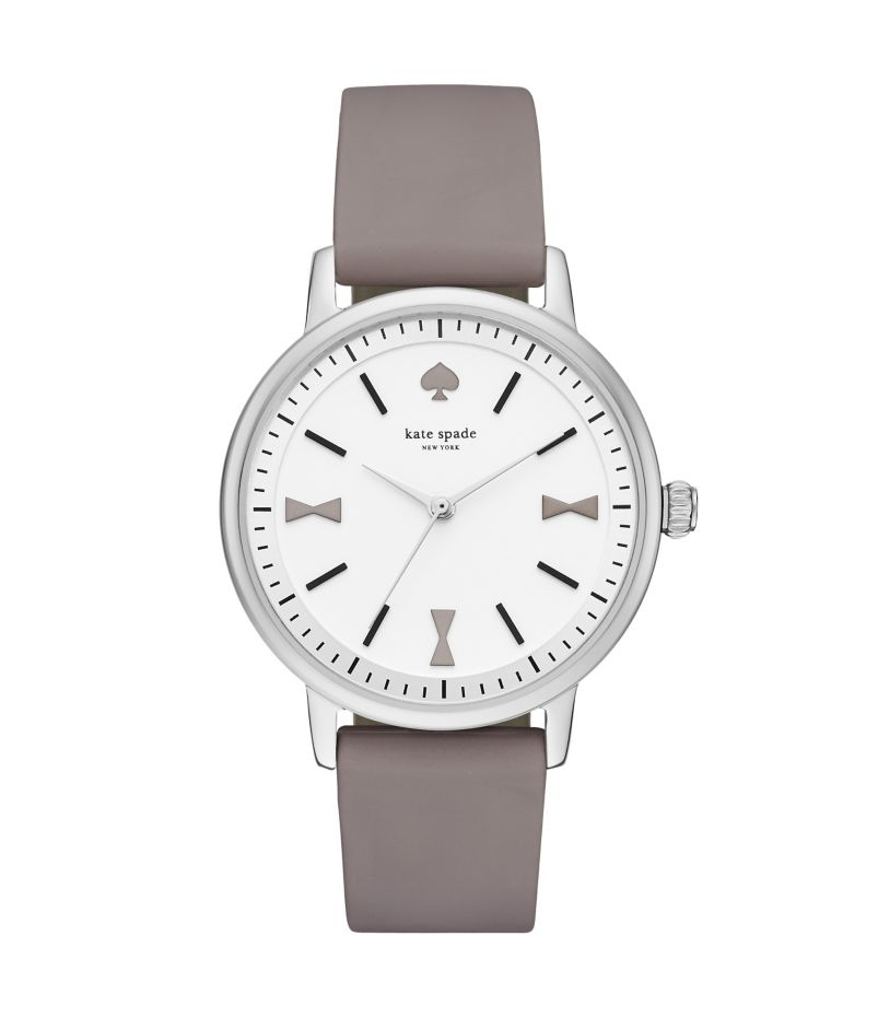kate spade new york Crosby Bow Marker Grey Silicone Watch