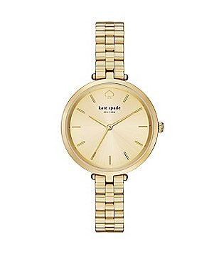 kate spade new york Holland Gold Tone Stainless Steel 3 Hand Analog Bracelet Watch