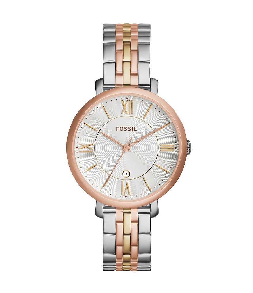 Fossil Ladies´ Jacqueline Tri-Tone Analog Watch