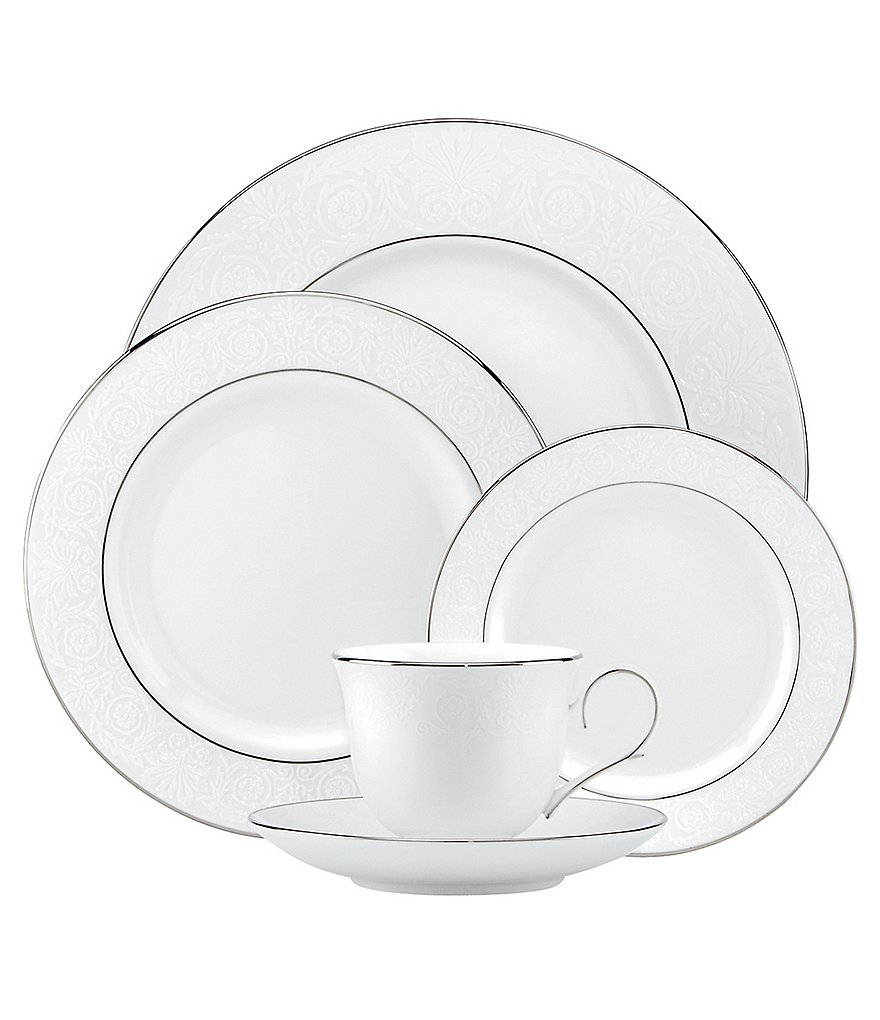 Lenox Artemis Floral Platinum Bone China 5-Piece Place Setting