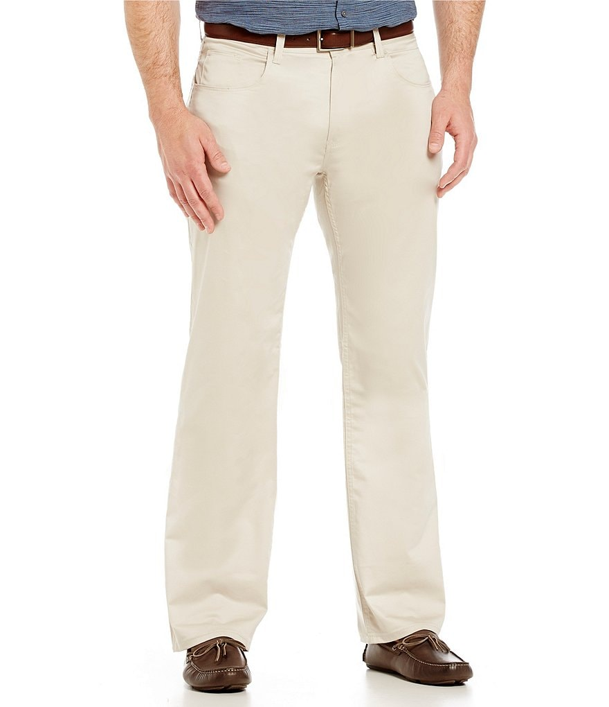 Perry Ellis Big & Tall Flat Front Stretch Pants
