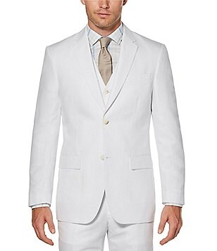 Perry Ellis Big & Tall Solid Linen Jacket
