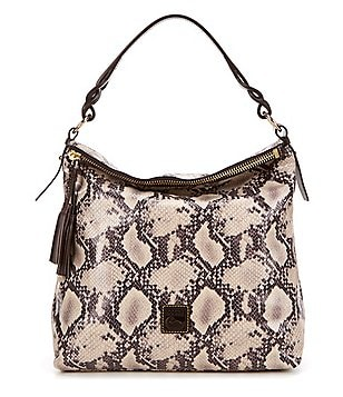 Dooney & Bourke Newbury Sloan Snake-Embossed Hobo Bag