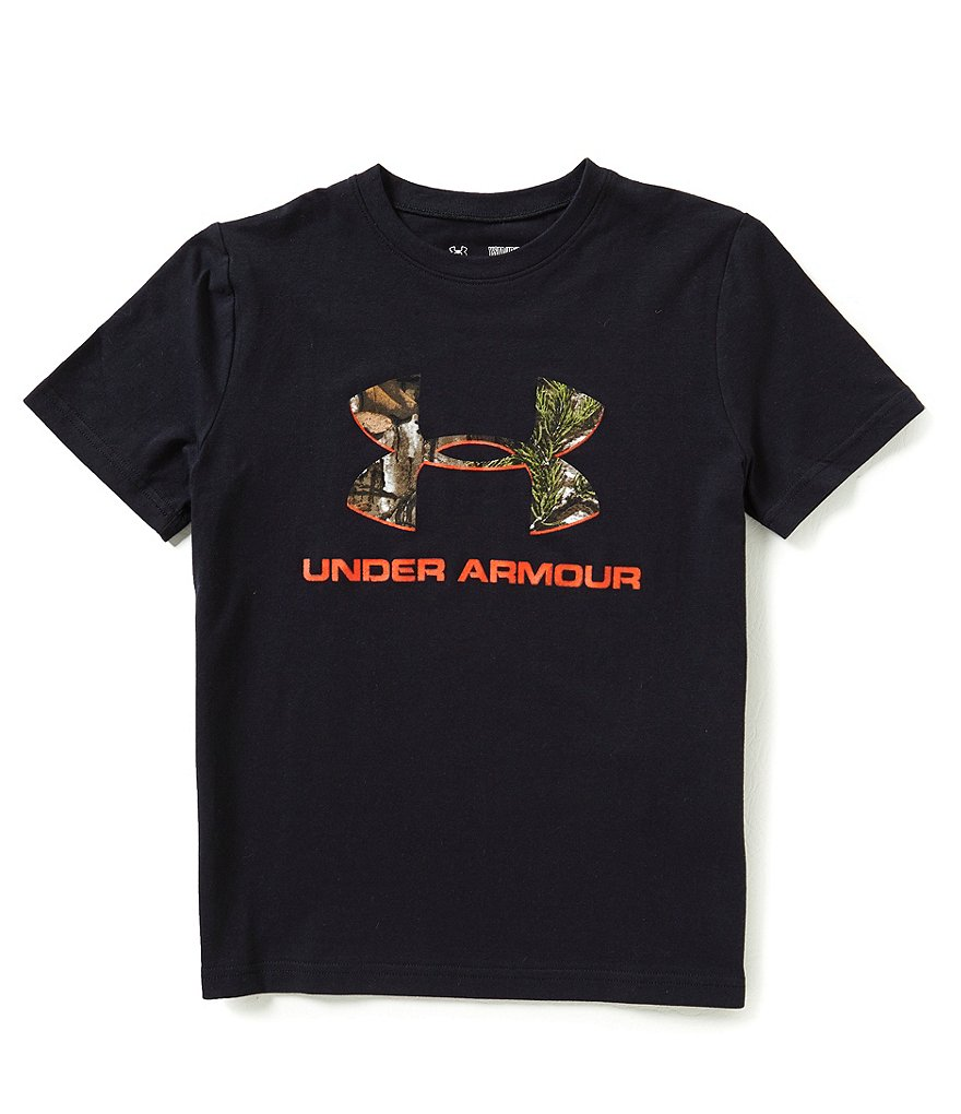 Under Armour Big Boys 8-20 Camouflaged Logo Short-Sleeve Tee
