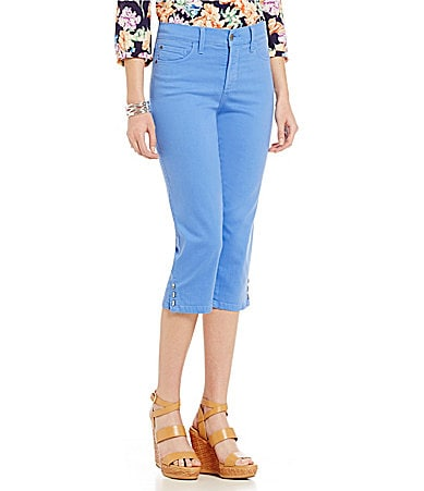 NYDJ Petite Ariel Novelty Rivet Trim Crop Jeans