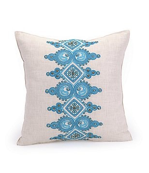 Trina Turk Catalina Beaded Embroidered Square Pillow