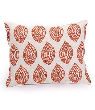 Trina Turk Catalina Paisley-Embroidered Pillow