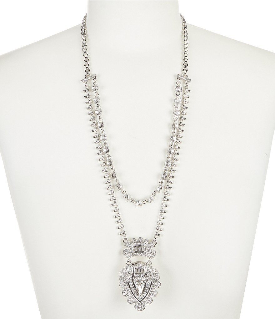 Belle Badgley Mischka Vintage Multi-Strand Pendant Necklace