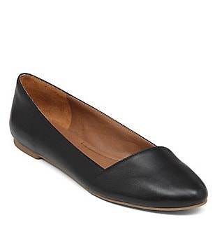 Lucky Brand Archh Leather Almond Toe Slip-On Flats
