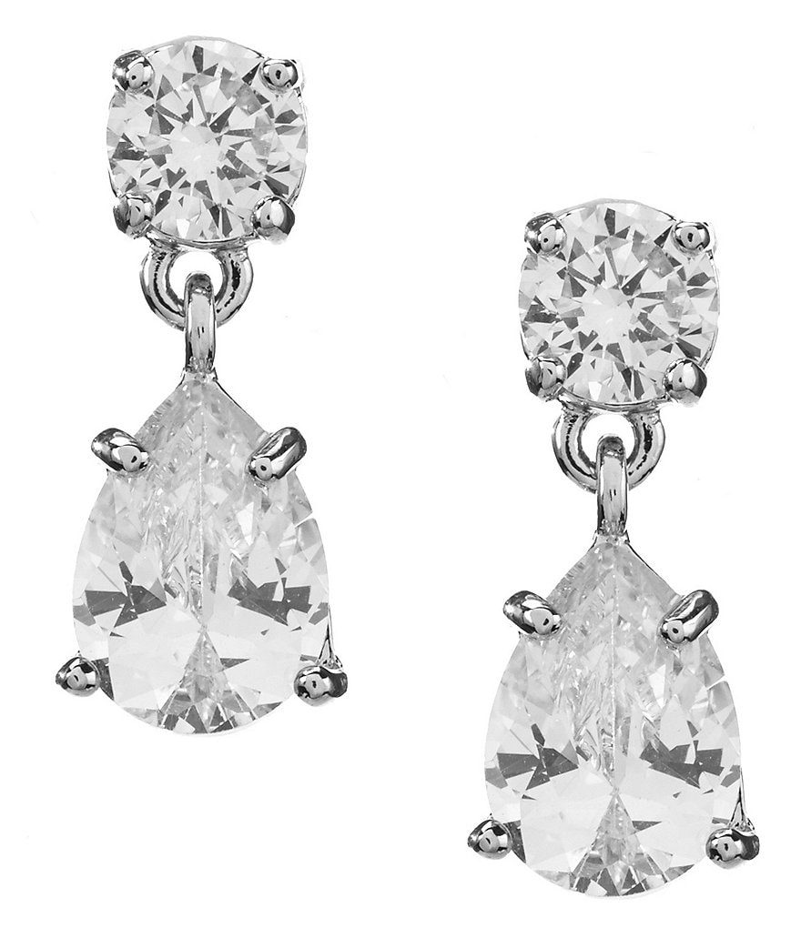 Givenchy Cubic Zirconia Double-Drop Earrings
