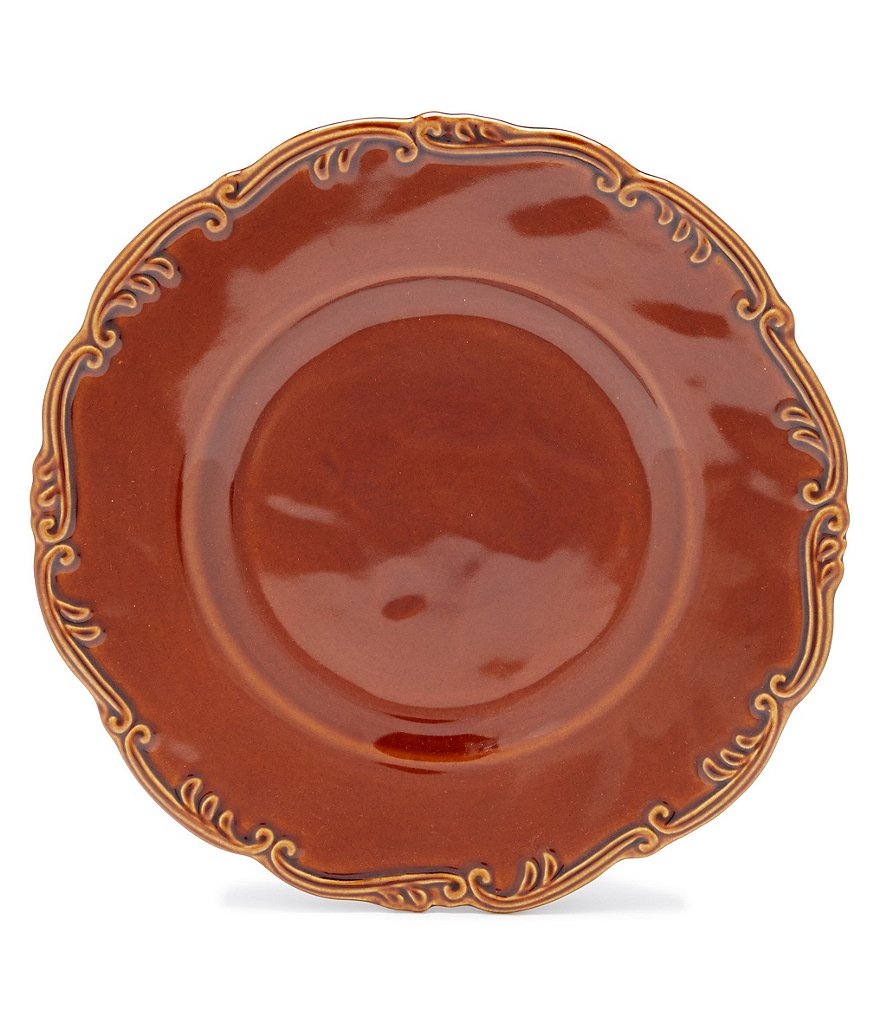 Southern Living Savannah Scrolled Ceramic Dinner Plate