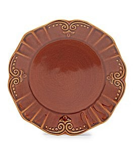 Southern Living Savannah Scrolled Ceramic Salad Plate Image