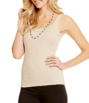 Ruby Rd. Square-Neck Sleeveless Knit Tank