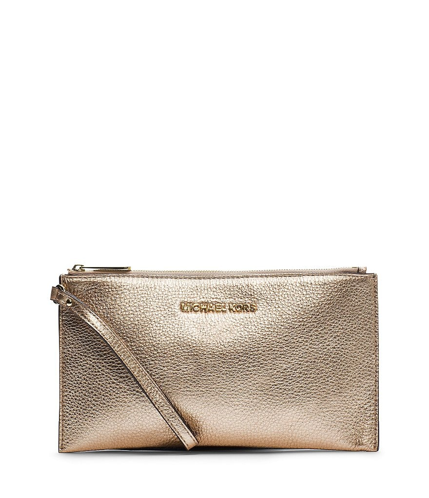 MICHAEL Michael Kors Bedford Metallic Clutch