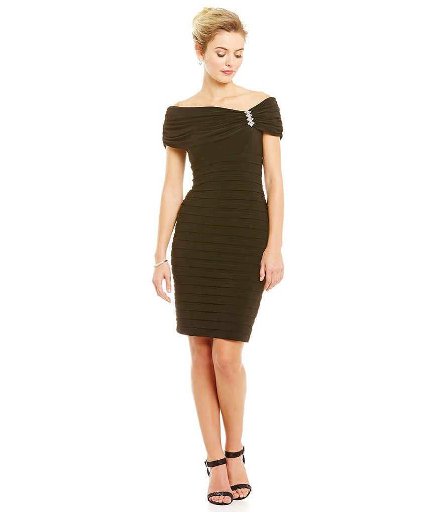 Xscape Cowl Neck Banded Dress