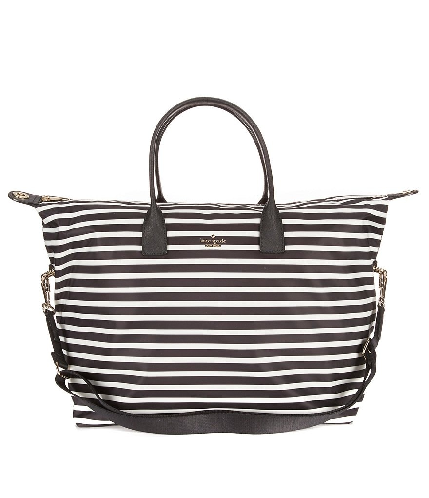 kate spade new york Classic Nylon Striped Lyla Weekender