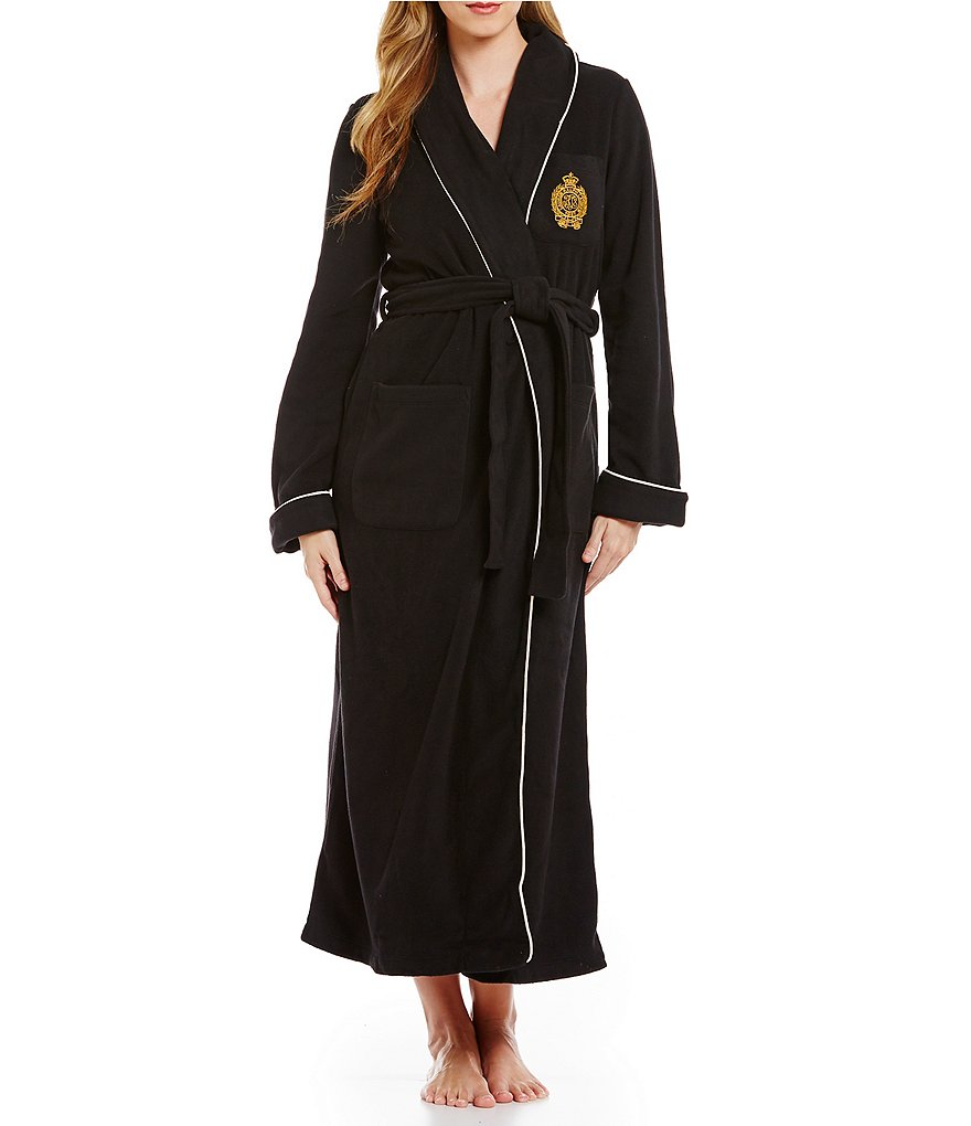 Lauren Ralph Lauren Dalton Fleece Shawl Collar Long Robe